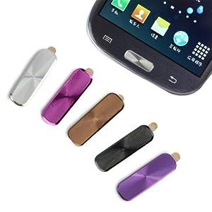 5 Stk. Home Button Sticker Aufkleber Metall für Samsung Galaxy Note 2 S4 I9500