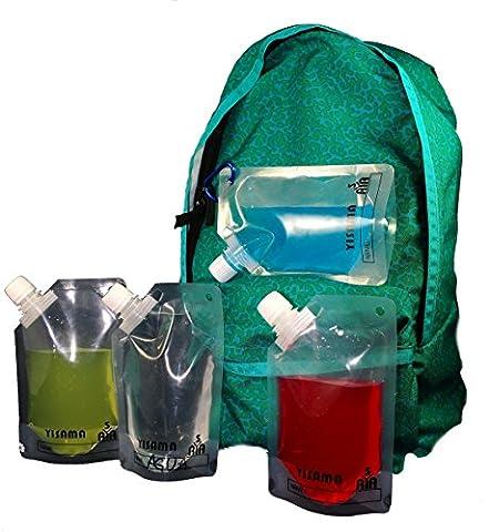 YISAMA Satz von 6 Flexiblen Wiederverwendbaren Plastikflaschen fuer Die Schule (6X237 ml.)