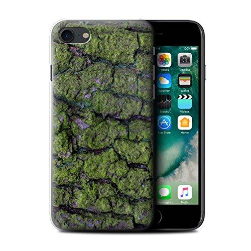 Stuff4 Hülle / Case für Apple iPhone 7 Plus / Moos/Feucht Muster / Baumrinde Kollektion Algen/Grün