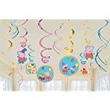 Peppa Pig Swirls Hanging Set of 6/ Peppa Pig Party Supplies/Peppa Pig Party Decoration