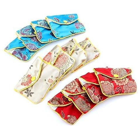 Honeysuck Mode Soie Bijoux Sac pochette cadeau Bags-12pcs