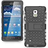 Dream2cool Hybrid Military Grade Armor Kick Stand Back Cover Case For SAMSUNG GALAXY NOTE 4 (Black)