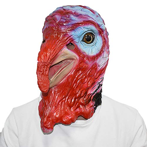 AAWFUL Cosplay Gummi Tier Maske Papagei Krähe Huhn Karneval Kostüm Kopf Latex Vogel Maske Für (Huhn Vogel Kostüm)