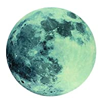ABCUV Moonlight Glow in the Dark Moon Wall Decal sticker 20 cm