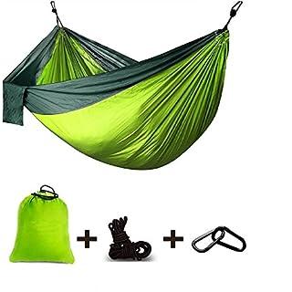 ariel-gxr Hängematte, Camping Hängematte, Outdoor Ultra-Light Reise-Hängematte, Doppelte Hängematte 100% Fallschirm- Nylon für Camping, Reisen, Strand, Garten(270x140cm) Belastbarkeit bis 300kg