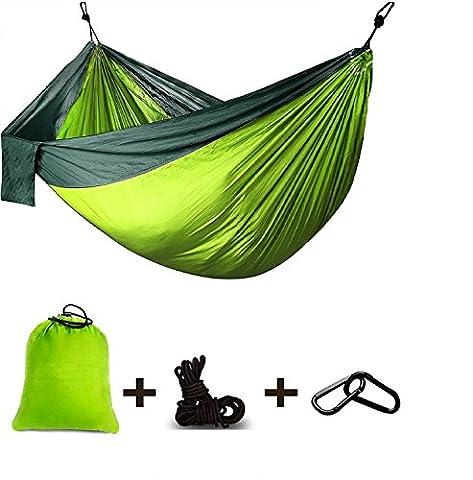Hängematte, Ariel-gxr Camping Hängematte, Outdoor Ultra-light Reise-Hängematte, doppelte Hängematte 100% Fallschirm- Nylon für Camping, Reisen, Strand, Garten(270x140cm) Belastbarkeit bis 300kg