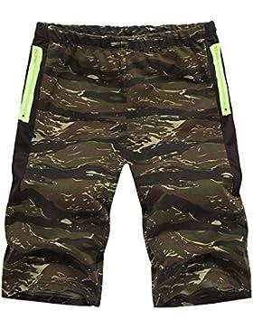 Pantalones cortos de los hombres ocasionales de la moda del estilo del verano Pantalones cortos del tamaño extra...