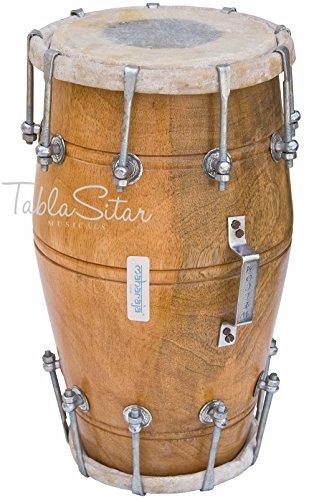 Dholak/ Dholki, Maharaja Musicals, Mango Wood Dholak, Bolt-tuned, with Bag, Tuning Spanner (PDI-AJD)