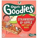 Organix Goodies Fraises Bio & Pomme Douce Barres De 6 X 30G Oaty - Lot De 2