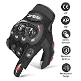Yissvic Motorrad Handschuhe Motorradhandschuhe Touchscreen Sport Handschuhe für Motorrad Radfahren