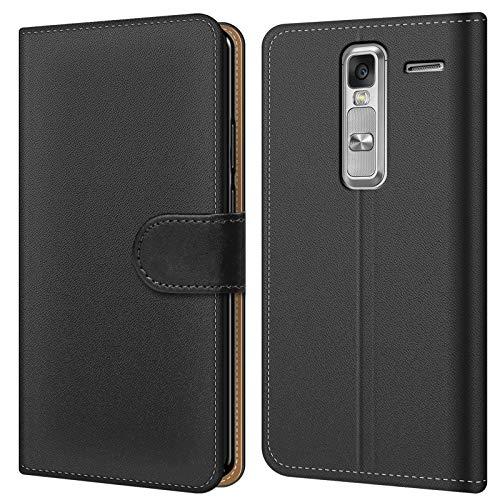 Conie BW14967 Basic Wallet Kompatibel mit LG Class, Booklet PU Leder Hülle Tasche mit Kartenfächer & Aufstellfunktion für Class Case Schwarz
