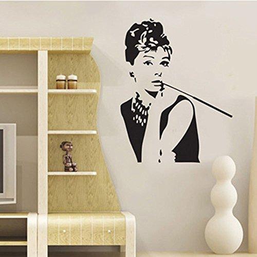 Adesivi Murali Audrey Hepburn.Adesivi Da Parete Audrey Hepburn Adesivi Murali Schizzo Di