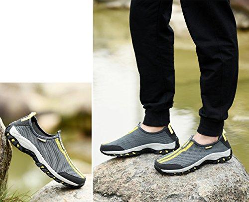 Sapatos Unissex Rápida Sola Malha À Livre Caminhada Sapatilhas De Abrasão Mulheres Do Aqua De De Ao Escuro Sapatos Antiderrapante Cinza Homens Superfície Resistentes Secagem Ar Casuais gOqwgZC