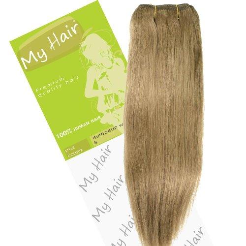 Dream Girl Extensions de cheveux sur trame européenne Couleur 8 35,6 cm