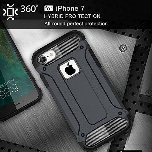 GHC Cases & Covers, Für iPhone 7 Tough Armor TPU + PC Kombi-Fall, Kleine Menge Empfohlen vor iPhone 7 Starten ( Color : Blue ) Dark Blue