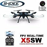s-idee® 01519 X5SW Quadrocopter X5W Wifi Kamera Syma X5W Headless Mod ähnlich wie X5C nur mit Wifi, 360° Flip Funktion, 2.4 GHz, 4-Kanal, 6-AXIS Stabilization System