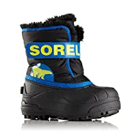 Sorel Snow Boots Snow Commander Lined NC1877-011 Black Super Blue Black Blue, Schuhe Kids:29