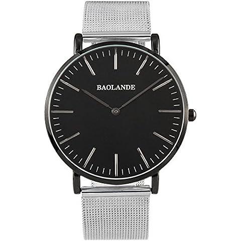 Alienwork Classic St.Mawes Reloj cuarzo elegante cuarzo moda diseño atemporal clásico Metal plata plata U04916G-02