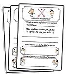 Hochzeitsspiel Schön, dass Du da bist 60 x Postkarten Mit Fragen zur Ehe, Braut & Brätuigam Hochzeitsgästebuch