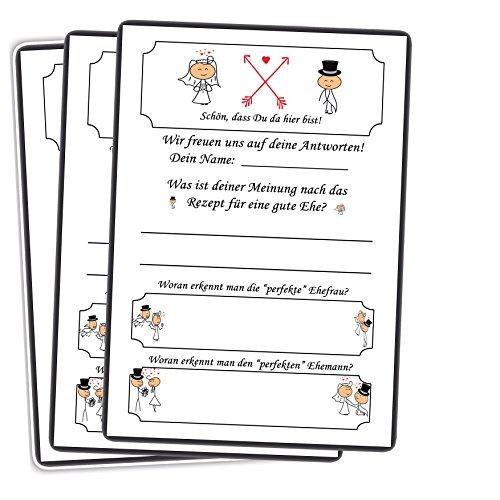 Lustiges Hochzeitsspiel 52 Postkarten Schön, dass Du da bist mit Fragen & Aufgaben für Gäste & Brautpaar Hochzeitsspiele Vintage Karten Gästebuch Gutscheine Stück Wochen lustig Hochzeitsbräuche Lustige Postkarte-buch