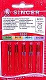 Singer 2020 823 R- Aghi per i tessuti di cotone, 10 pezzi