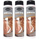 3 bouteilles Thermo Active Thermogénique combustion des graisses localisées crème idéal pour minceur 200 ml Avec...
