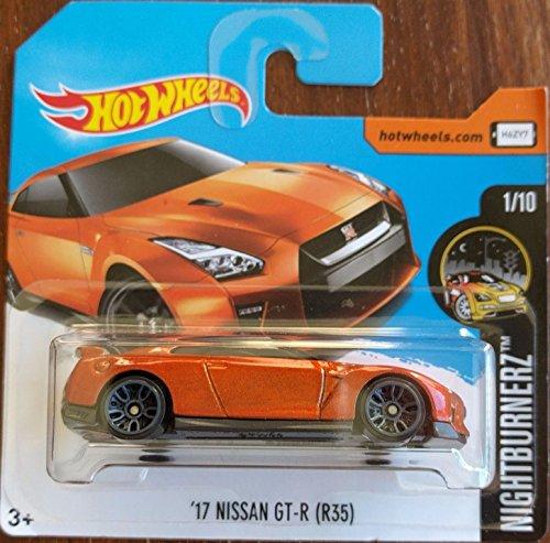 2017 Hot Wheels Nightburnez '17 Nissan GT-R (R35) Burnt Orange 282/365 (Short Card)