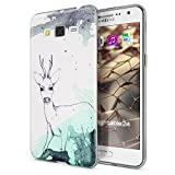 Samsung Galaxy Grand Prime Hülle Handyhülle von NALIA, Slim Silikon Motiv Case Cover Crystal Schutzhülle Dünn Durchsichtig, Etui Handy-Tasche Backcover Transparent Bumper, Designs:Deer