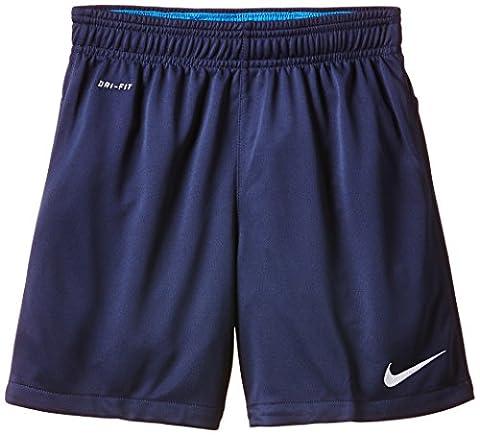 Nike Jungen Shorts Academy Longer Knit 2, Midnight Navy/Light Photo Blue/White, S, 658026