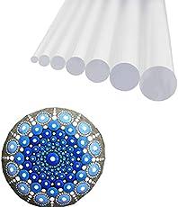 8 PCs Transparent Hard Acrylic Dot Dotting Painting Tools Set Kit for Mandala Rock Painting, Coloring, Drawing & Drafting, Kids' Crafts, Nail Art, Painting