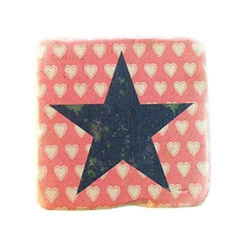 Alphabet Untersetzer, Marokkanische Vintage  Stil Fliesen Stern