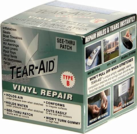 Rouleau de réparation des trous et déchirures Tear-Aid Type B pour surfaces PVC et vinyle