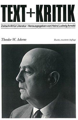 Theodor W. Adorno (TEXT+KRITIK Sonderband)