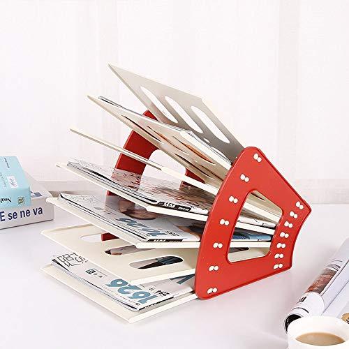 FDBF Magazine Bookshelf Modern Shelf Creative Living Room Storage Cabinet Locker Jujube Red