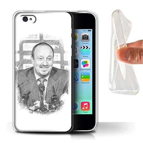 Officiel Newcastle United FC Coque / Etui Gel TPU pour Apple iPhone 5C / Pack 8pcs Design / NUFC Rafa Benítez Collection Croquis