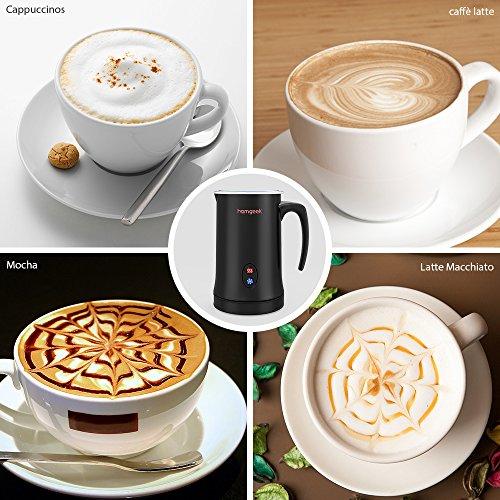 Homgeek Montalatte, Montalatte elettrico per liquidi con funzioni di latte caldo e freddo Funzionamento silenzioso, 150ml 500W, rivestimento antiaderente - 6