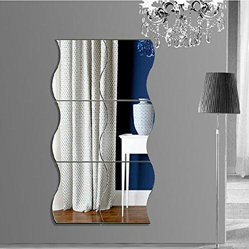 Specchi Moderni Senza Cornice.Garwarm 3d Fashion Moderno Creativo Rimovibile Decorativo Acrilico