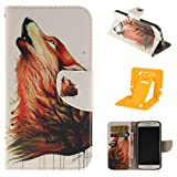 Samsung S7 Leather Phone Case, Ekakashop Magnetized Closure Stand Card Holders Pocket, Retro Leather Wallet Case Purse Protective Cover stand Function Flip Folio Book Case for Samsung Galaxy S7 including a independent Kickstand - Color Wolf