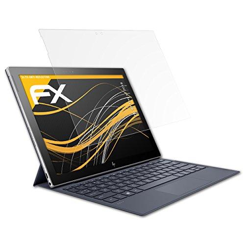 atFolix Panzerfolie kompatibel mit HP Envy x2 2018 Schutzfolie, entspiegelnde & stoßdämpfende FX Folie (2X)
