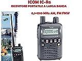Icom IC-R6#12 Ricevitore portatile ad ampia copertura 0,1~1310 MHz