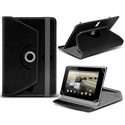 "ONX3 Amazon Fire HD Tablet 7"" Schwarz Tablet Hülle 360 Grad drehende lederne Schwenker-Standplatz-Fall-Abdeckung"