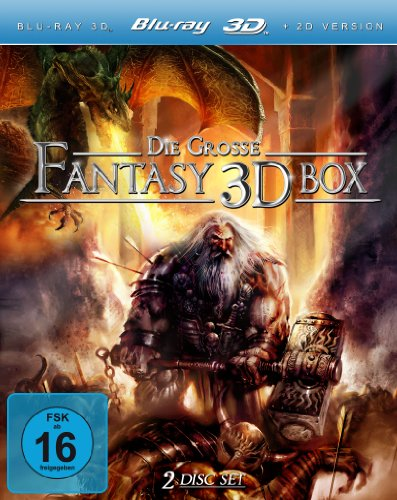 Bild von Die große Fantasy 3D Box (Dragonquest / Dragon Crusaders / Midnight Chronicles / Dragon Hunter) [3D Blu-ray]