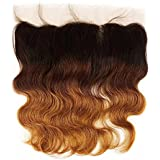 14\ , T1b/4/30 : SHOWJARLLY Ombre Brazilian Body Wave Lace Frontal Closure 13 X 4inch Three Tone Ombre 1b/4/30...