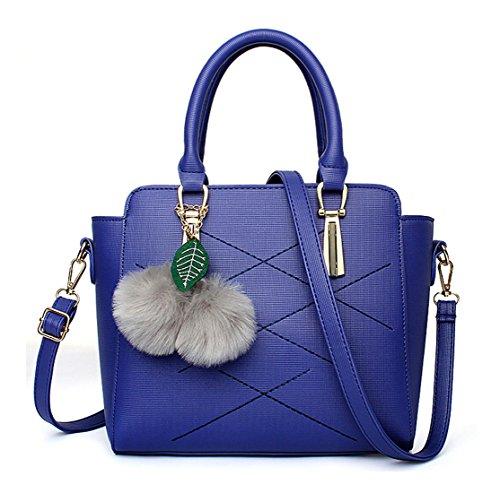 Keshi Pu Mignon - Sac à main femmes - Porté MAIN et EPAULE Bleu