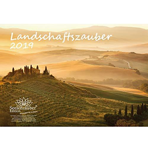 Landschaftszauber · DIN A4 · Premium Kalender 2019 · Landschaft · Urlaub · Fremde Länder · Reisen · Geschenk-Set mit 1 Grußkarte und 1 Weihnachtskarte · Edition Seelenzauber (Urlaub Geschenk-sets)