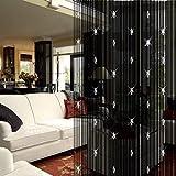 Cortina de hilos Seguryy con cuentas para puerta o ventana, también apta para dividir estancias