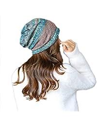 Leisial Gorro de Turbante Cabeza Sombrero de Mujer Elasticidad Estilo de  étnica Bufanda Pañuelo Deporte Aire Libre para Mujer Primavera… 5dc20ca8a4c