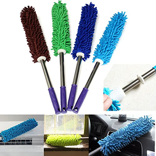 Morbida microfibra anti statico a secco Feather Duster Cleaner Dust manico