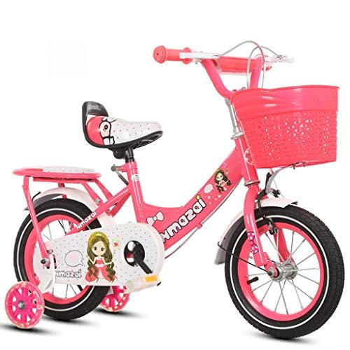 "Kinderfahrrad Kinderfahrrad, Mädchen Kleinkind-Fahrrad 12"" 14"" 16"" 18"" Zoll For 2-10 Jahre, Kinder Fahrräder Mit Stützrad, Backseat (Color : Red, Size : 18'')"
