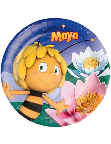 8 Assiettes 23 cm Maya l'abeille - Taille Unique